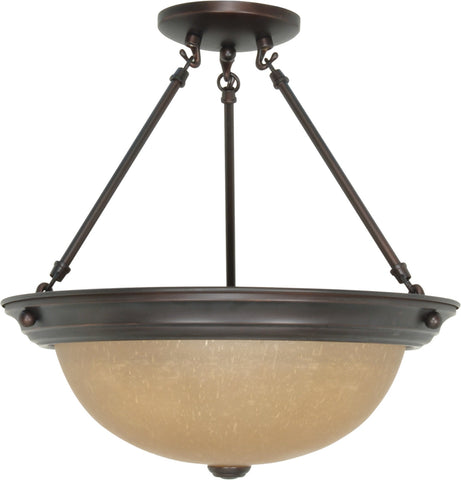 Nuvo 60-1261 - Large Dome Semi Flush Ceiling Light Fixture