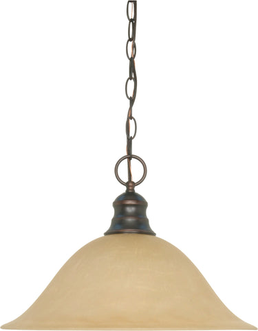 Nuvo 60-1276 - Hanging Dome Pendant Light Fixture in Mahogany Bronze Finish