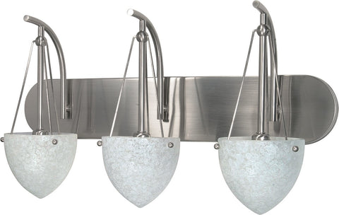"Nuvo 60-136 - 24"" Wall Mounted Vanity Fixture in Brushed Nickel Finish"