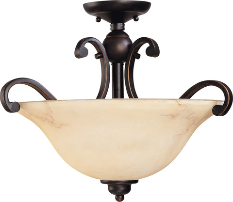 Nuvo 60-1408 - Semi Flush Ceiling Light Fixture in Copper Espresso Finish