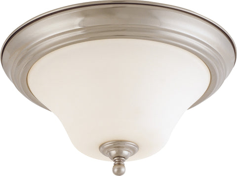 Nuvo 60-1825 - Medium Dome Flush Mount Ceiling Light in Brushed Nickel Finish