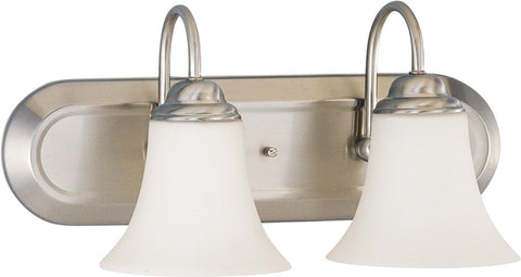 Nuvo 60-1833 - Vanity Fixture in Brushed Nickel Finish with White Satin Glass