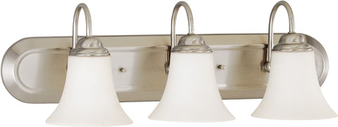 Nuvo 60-1834 - Vanity Fixture in Brushed Nickel Finish with White Satin Glass