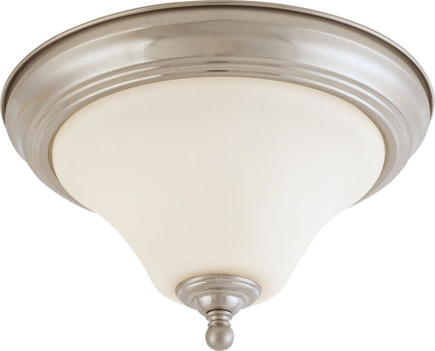 Nuvo 60-1904 - Small Dome Flush Mount Ceiling Light in Brushed Nickel Finish