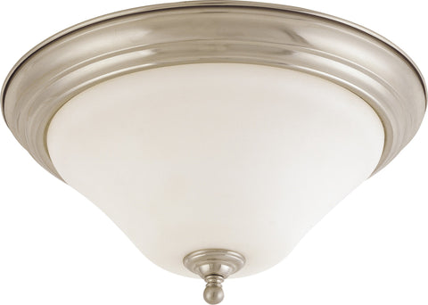 Nuvo 60-1906 - Large Dome Flush Mount Ceiling Light in Brushed Nickel Finish