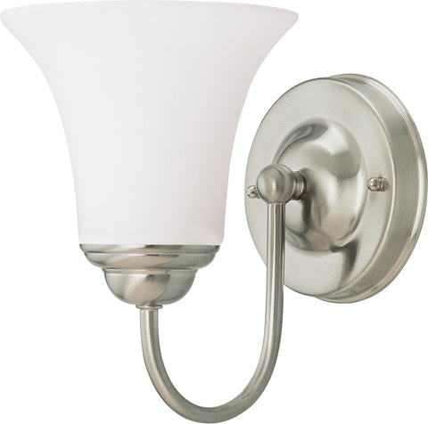 Nuvo 60-1912 - Vanity Fixture in Brushed Nickel Finish with White Satin Glass