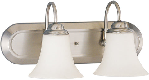 Nuvo 60-1913 - Vanity Fixture in Brushed Nickel Finish with White Satin Glass