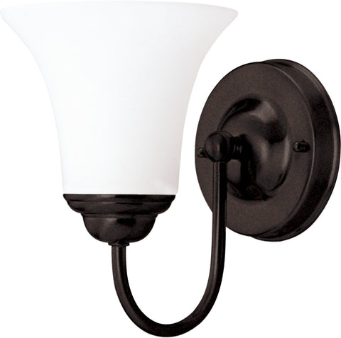 Nuvo 60-1932 - Vanity Fixture in Dark Chocolate Bronze and White Satin Glass
