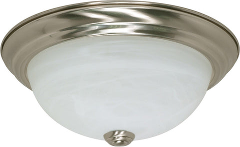 "Nuvo 60-197 - 11"" Flush Mount Ceiling Light Fixture in Brushed Nickel Finish"
