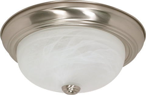 "Nuvo 60-198 - 13"" Flush Mount Ceiling Light Fixture in Brushed Nickel Finish"