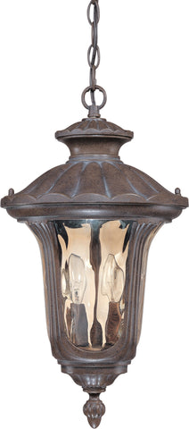 Nuvo 60-2008 - Outdoor Hanging Lantern in Fruitwood Finish and Amber Water Glass