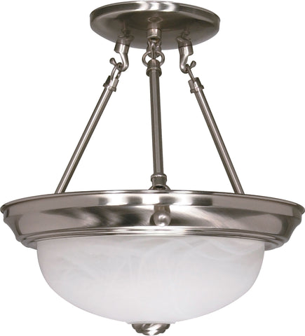 "Nuvo 60-200 - 11"" Semi Flush Mount Ceiling Light Fixture"