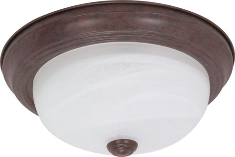 "Nuvo 60-205 - 11"" Flush Mount Ceiling Light Fixture in Old Bronze Finish"