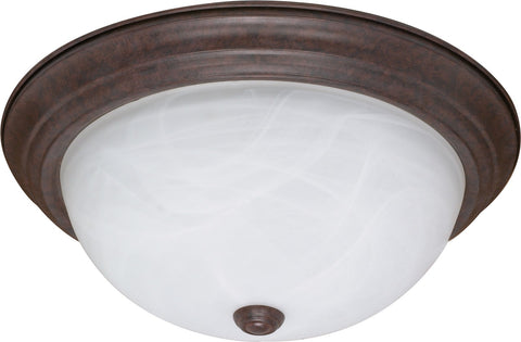 "Nuvo 60-207 - 15"" Flush Mount Ceiling Light Fixture in Old Bronze Finish"