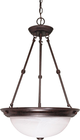 "Nuvo 60-211 - 15"" Hanging Pendant Light Fixture in Old Bronze Finish"