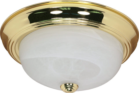 "Nuvo 60-213 - 11"" Flush Mount Lighting Fixture in Polished Brass Finish"