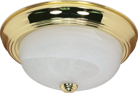 "Nuvo 60-214 - 13"" Flush Mount Lighting Fixture in Polished Brass Finish"