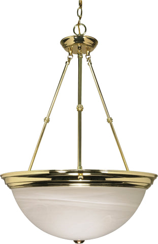 "Nuvo 60-220 - 20"" Hanging Pendant Light Fixture in Polished Brass Finish"