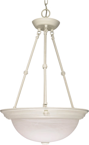 "Nuvo 60-227 - 15"" Hanging Pendant Light Fixture in Textured White Finish"