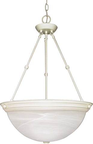 "Nuvo 60-228 - 20"" Hanging Pendant Light Fixture in Textured White Finish"
