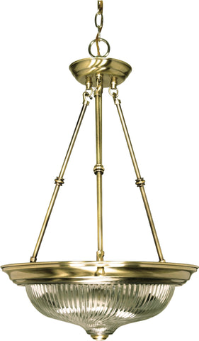 Nuvo 60-235 - Small Hanging Pendant Light Fixture in Antique Brass Finish