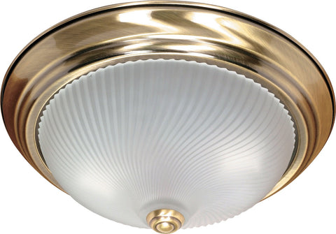 Nuvo 60-238 - Flush Mount Ceiling Light Fixture in Antique Brass Finish