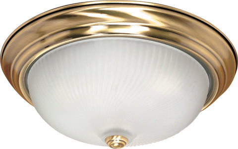 Nuvo 60-239 - Flush Mount Ceiling Light Fixture in Antique Brass Finish