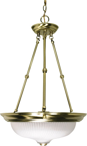 Nuvo 60-243 - Small Hanging Pendant Light Fixture in Antique Brass Finish