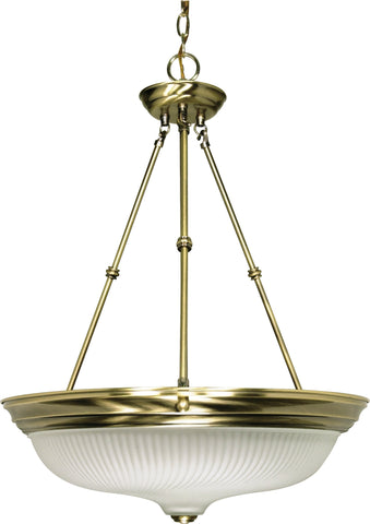 Nuvo 60-244 - Large Hanging Pendant Light Fixture in Antique Brass Finish