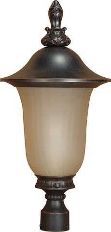 Nuvo 60-2511 - Outdoor Post Lantern with Photocell in Old Penny Bronze Finish