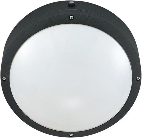 Nuvo 60-2541 - Round Wall/Ceiling Light with Photocell in Matte Black Finish