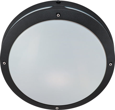 Nuvo 60-2545 - Round Wall/Ceiling Light in Matte Black Finish with Photocell