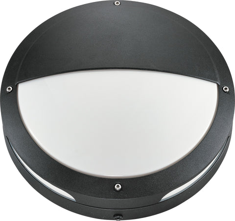 Nuvo 60-2547 - Round Hooded Wall/Ceiling Light in Matte Black Finish