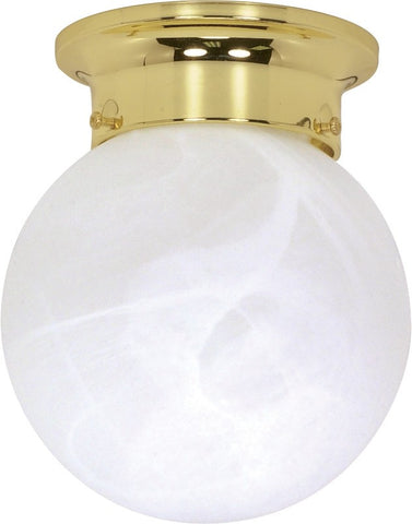 "Nuvo 60-255 - 6"" Ball Ceiling Light in Polished Brass Finish"