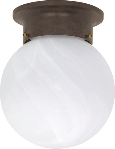 "Nuvo 60-259 - 6"" Ball Ceiling Light in Old Bronze Finish with Alabaster Glass"