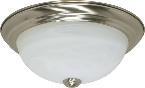 Nuvo 60-2621 - Flush Mount Ceiling Light in Brushed Nickel Finish