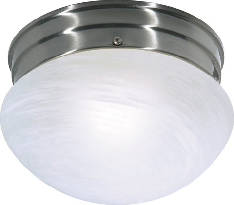 Nuvo 60-2633 - Small Flush Mount Ceiling Light in Brushed Nickel Finish