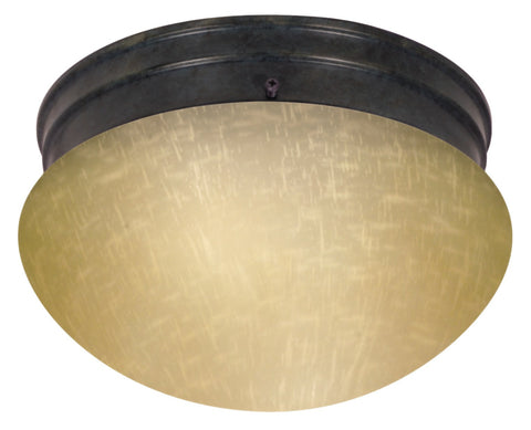 "Nuvo 60-2644 - 8"" Flush Mount Ceiling Light in Mahogany Bronze Finish"