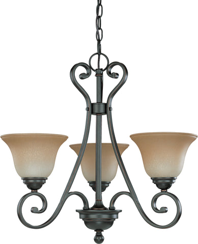 Nuvo 60-2741 - Small Chandelier in Sudbury Bronze Finish