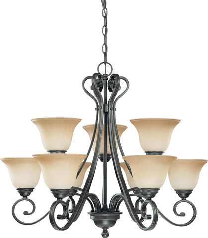 Nuvo 60-2744 - 2-Tier Chandelier in Sudbury Bronze Finish