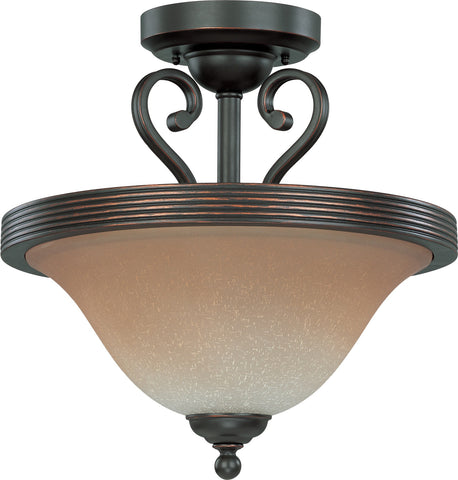 Nuvo 60-2751 - Semi Flush Mount Ceiling Light in Sudbury Bronze Finish