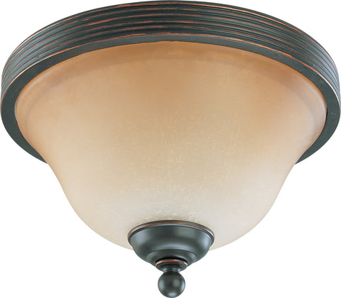 Nuvo 60-2752 - Small Flush Mount Ceiling Light in Sudbury Bronze Finish
