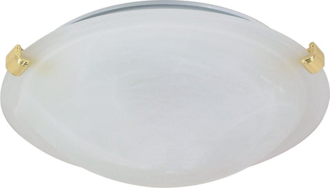 Nuvo 60-275 - Large Tri-Clip Dome Flush Mount Ceiling Light