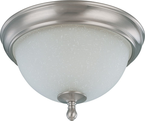 Nuvo 60-2788 - Small Flush Mount Ceiling Light in Brushed Nickel Finish