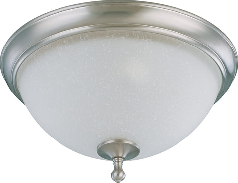 Nuvo 60-2793 - Large Flush Mount Ceiling Light in Brushed Nickel Finish