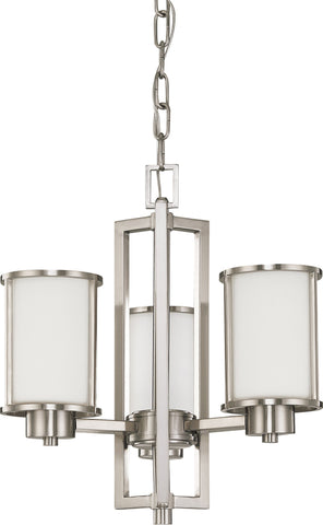 Nuvo 60-2851 - Chandelier in Brushed Nickel Finish (Convertible Arms Up or Down)