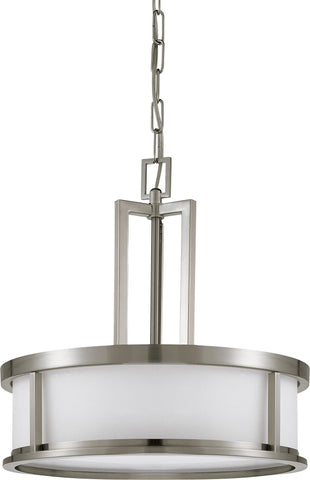 Nuvo 60-2857 - Hanging Pendant Light Fixture in Brushed Nickel Finish