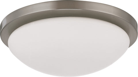 Nuvo 60-2941 - Dome Flush Mount Lighting Fixture in Brushed Nickel Finish