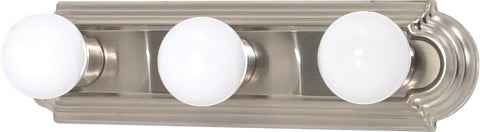Nuvo 60-300 - 3-Lights Vanity Light Bar Racetrack Style in Brushed Nickel Finish