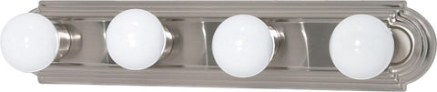 Nuvo 60-301 - 4-Lights Vanity Light Bar Racetrack Style in Brushed Nickel Finish